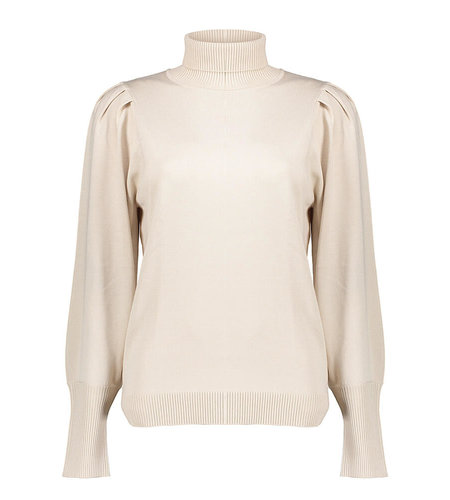 Geisha Pull Kol Pleated Shoulder 14855-14 Off White