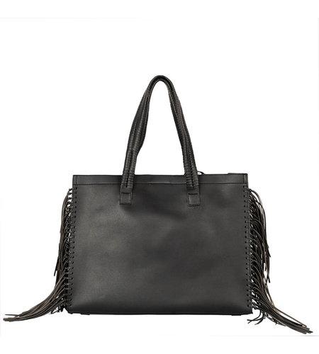 Alix The Label Faux Leather LX Shopper Black