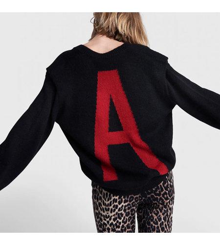 Alix The Label Knitted V Neck Pullover Black