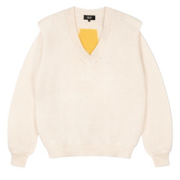 Alix The Label Knitted V Neck Pullover