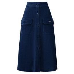 Tante Betsy Button Skirt Rib Cord