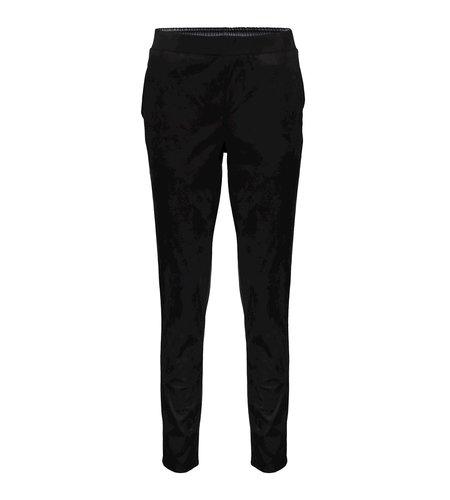 Geisha Pants Suedine Black
