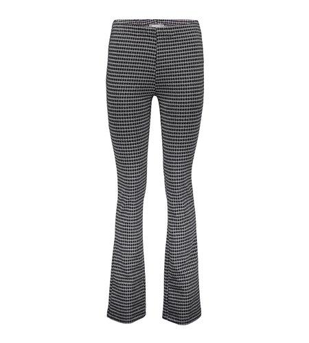 Geisha Pants Check Flair 11566-40 Black Grey