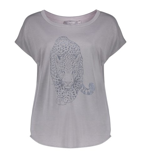 Geisha T Shirt Tiger 12600-25 Grey