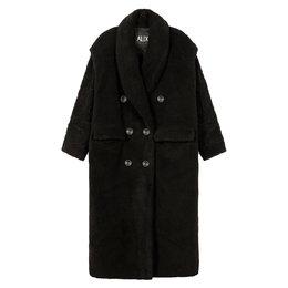 Alix The Label Ladies Woven Teddy Coat