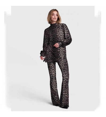 Alix The Label Knitted Animal Flared Pants Animal
