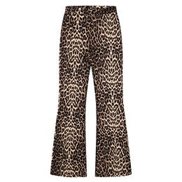 Alix The Label Knitted Animal Flared Pants