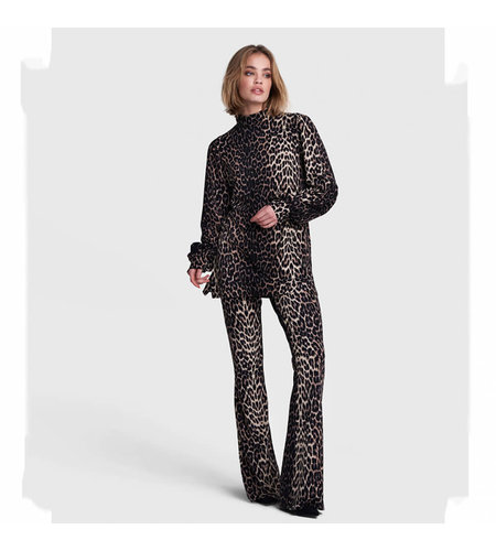 Alix The Label Knitted Animal Turtle Neck Top Animal
