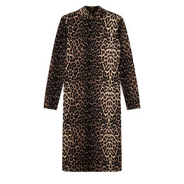 Alix The Label Knitted Animal Turtle Neck Dress