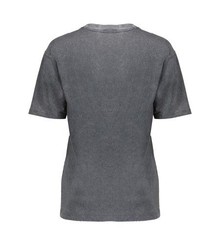 Geisha T-Shirt Hummingbird 12828-30 Anthracite Salmon
