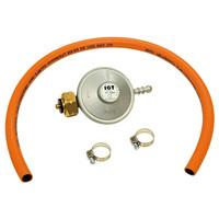 Gasregulator + slang 37Mbar-BE