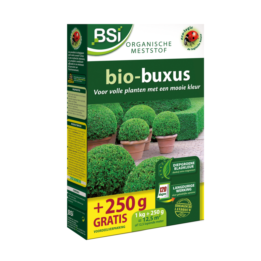 Bio meststof buxus 1.25kg-1