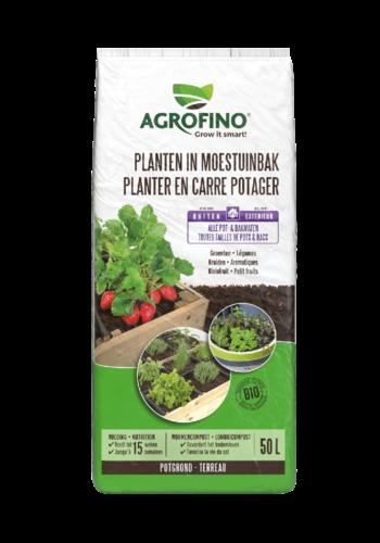 Agrofino Potgrond planten in moestuinbak 50L