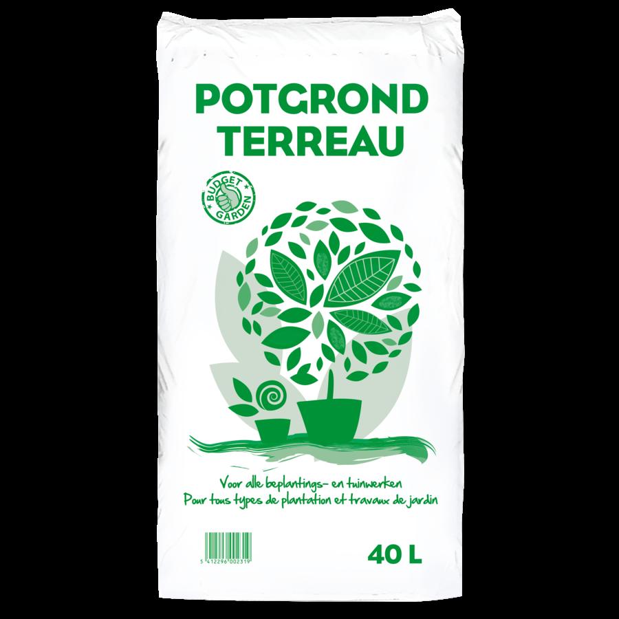 Potgrond groene bloem 40L-1