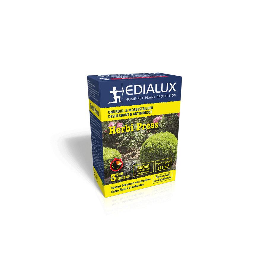 Herbi Press totale onkruid- en mosbestrijder bloemen en struiken-1