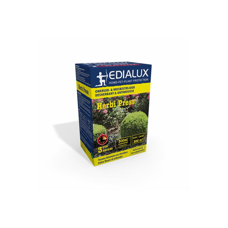 Herbi Press totale onkruid- en mosbestrijder bloemen en struiken-2