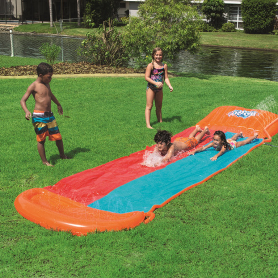 H2OGO! Waterglijbaan Double Slide Helling-1