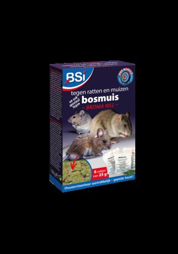 BSI Broma Kill tegen ratten en muizen 150gr (6x25gr)
