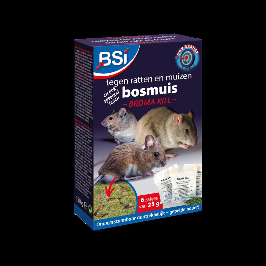 Broma Kill tegen ratten en muizen 150gr (6x25gr)-1