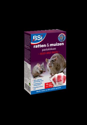 BSI Rodi Bro ratten en muizen pastalokaas 150gr (15x10gr)