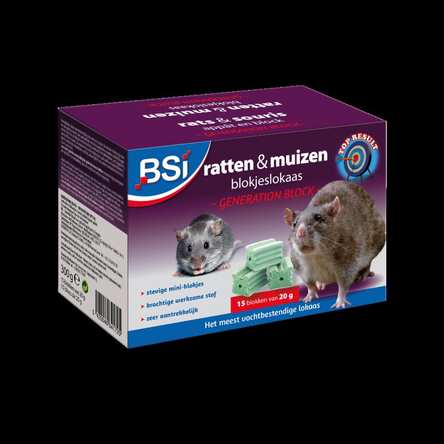 Generation Block ratten en muizen blokjeslokaas 300gr (15x20gr)-1