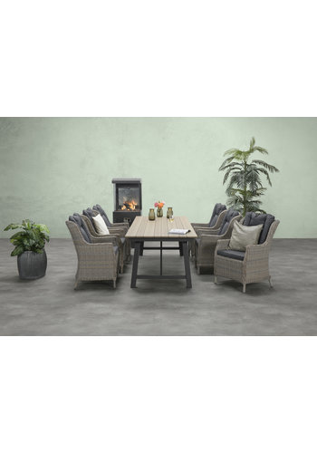 Garden Impressions Tuinset tafel+6 Loungezetels