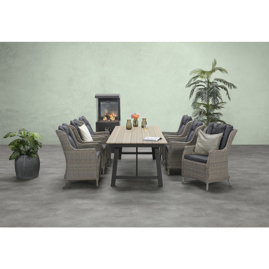 Tuinset tafel+6 Loungezetels-1