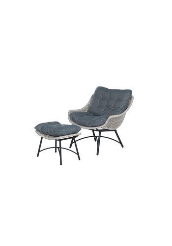 Garden Impressions Loungestoel met voetenbankje