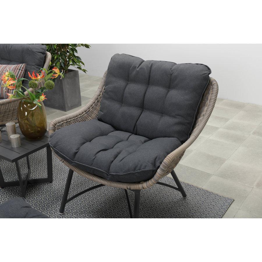 Loungestoel met voetenbankje-3