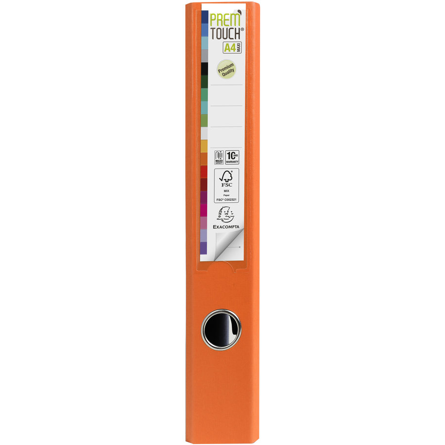 Ordner Prem'touch, 50mm, A4 maxi, oranje-2