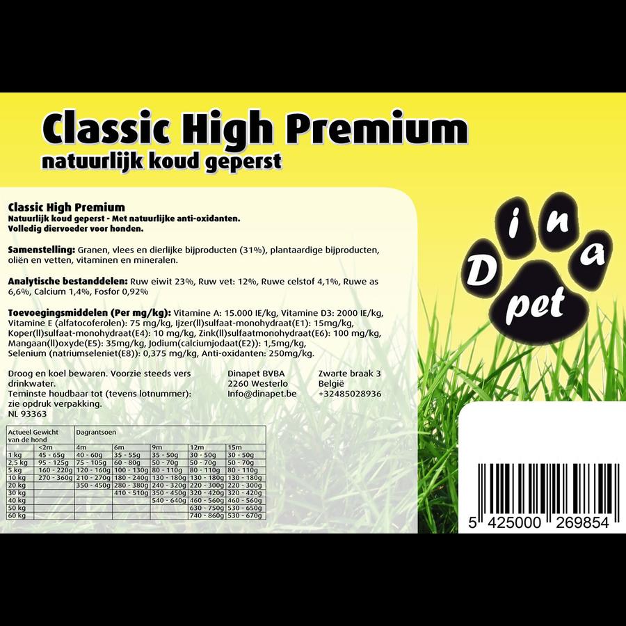 Geperste hondenbrokken, Classic High Premium-1