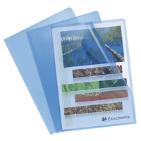 Transparante L-mappen, A4, 10 stuks, blauw