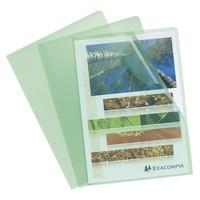 Transparante L-mappen, A4, 10 stuks, groen