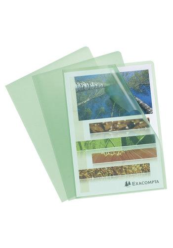Exacompta Transparante L-mappen, A4, 10 stuks, groen