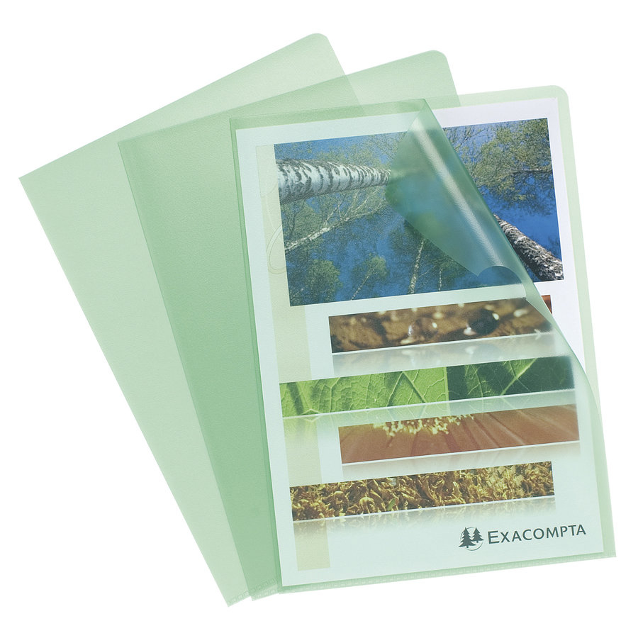 Transparante L-mappen, A4, 10 stuks, groen-1