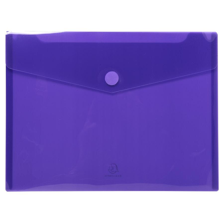 Enveloptassen met velcrosluiting, A4, 5 stuks, verschillende kleuren-3