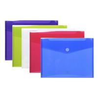 thumb-Enveloptassen met velcrosluiting, A4, 5 stuks, verschillende kleuren-2