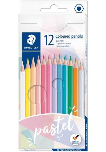 Staedtler Kleurpotloden, pastel, 12 kleuren