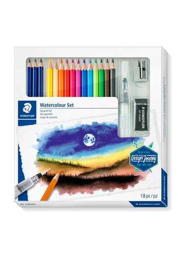 Staedtler Aquarel kleurpotloden, Design Journey,  18-delige set
