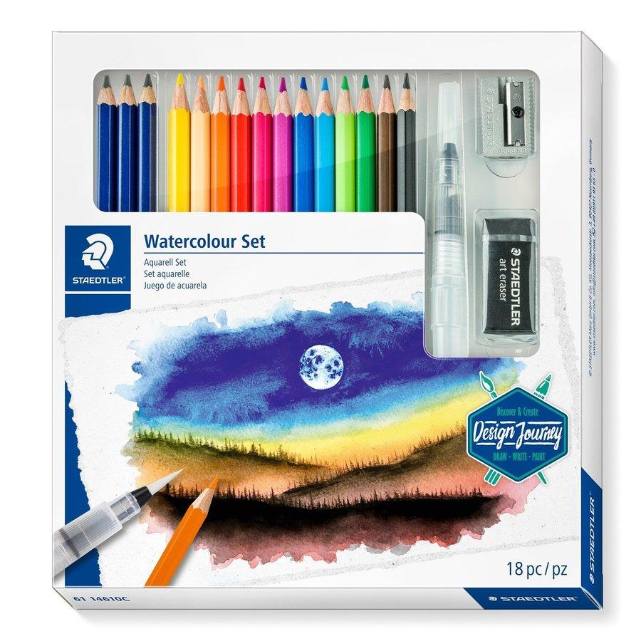 Aquarel kleurpotloden, Design Journey,  18-delige set-1