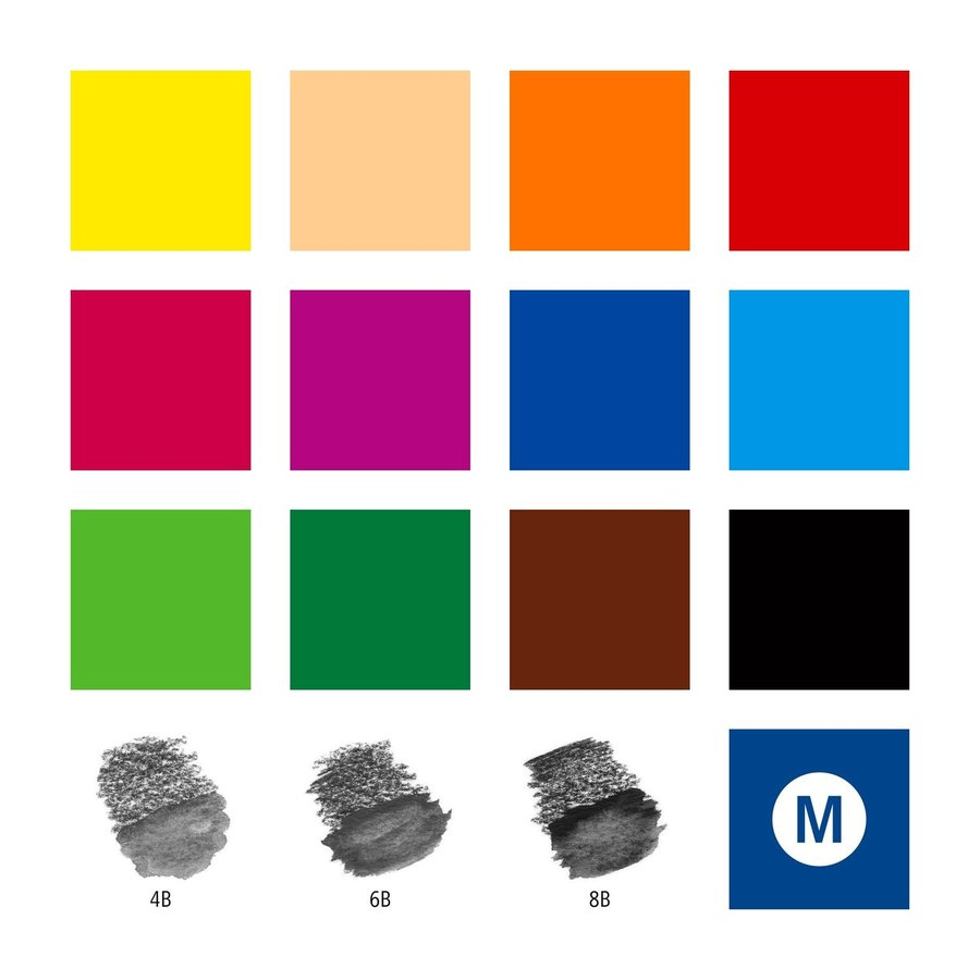 Aquarel kleurpotloden, Design Journey,  18-delige set-3