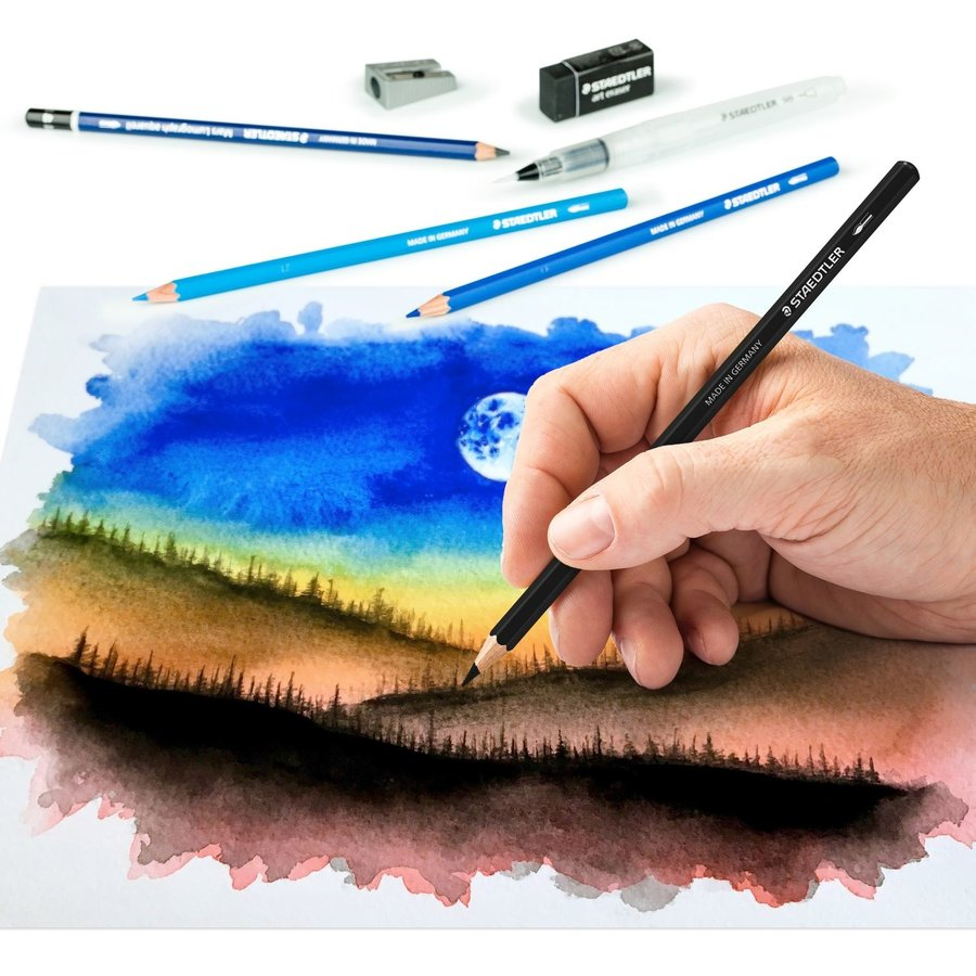 Aquarel kleurpotloden, Design Journey,  18-delige set-4