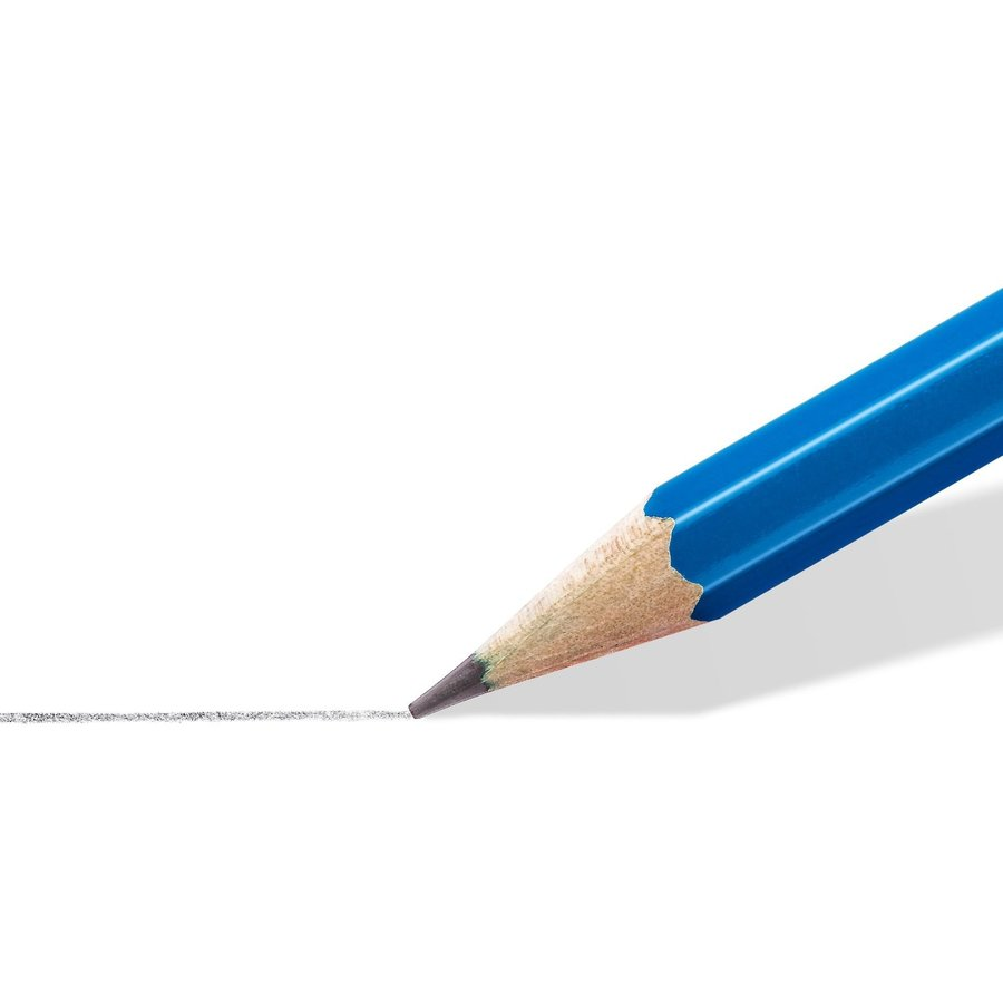 Grafietpotloden, gom en slijper, Mars Lumograph potloden, 6 stuks-2