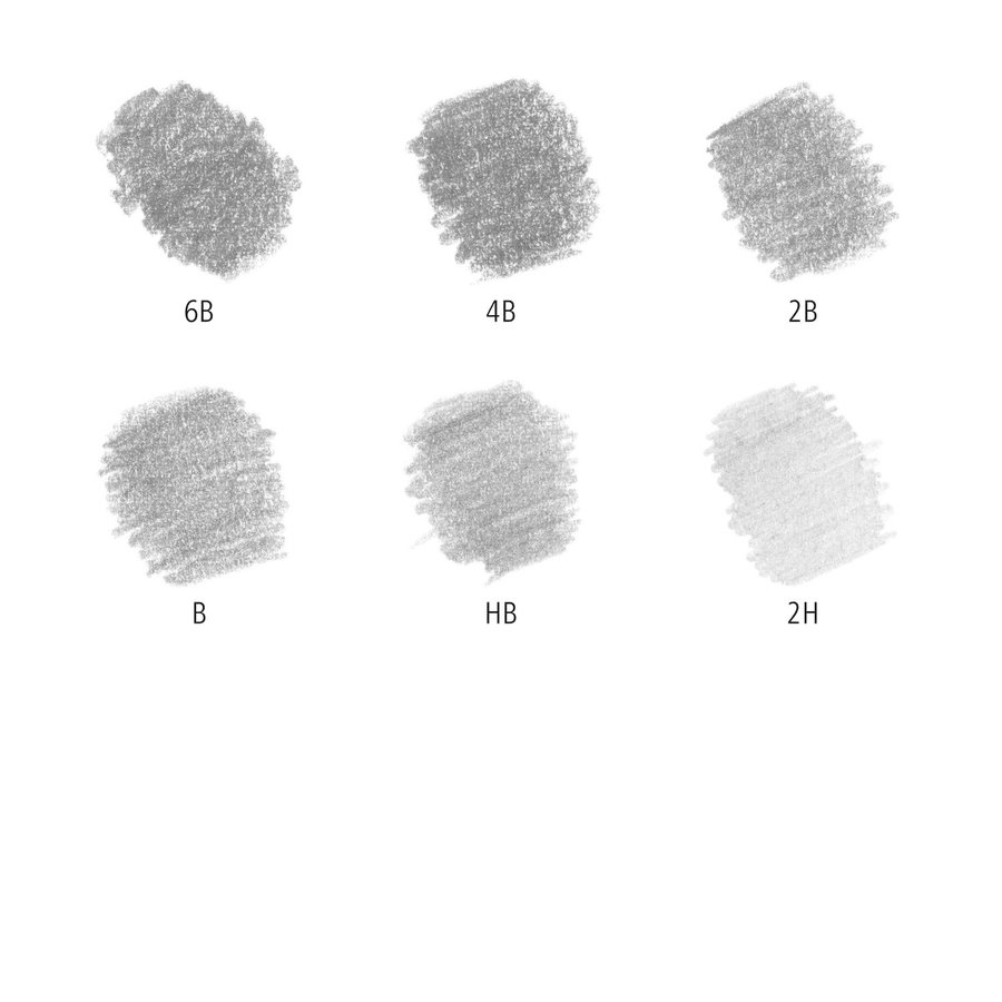 Grafietpotloden, gom en slijper, Mars Lumograph potloden, 6 stuks-3