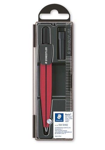Staedtler Passer, Noris 550, metallic rood