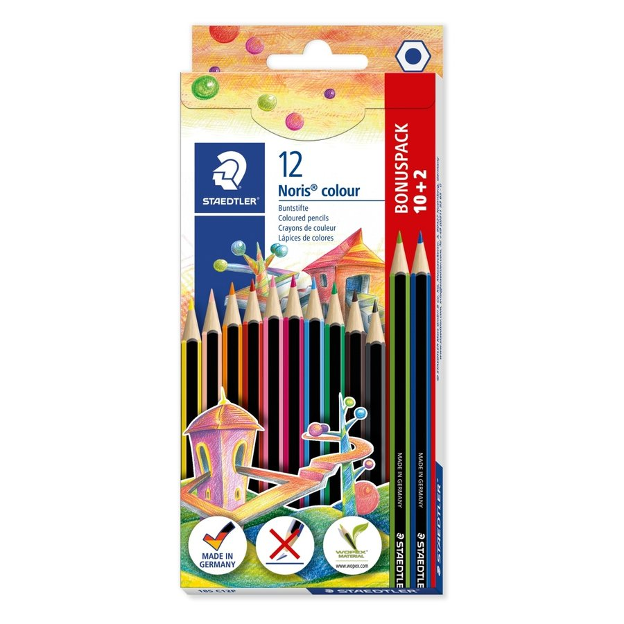 Kleurpotloden, Noris colour 185, 12 kleuren-1