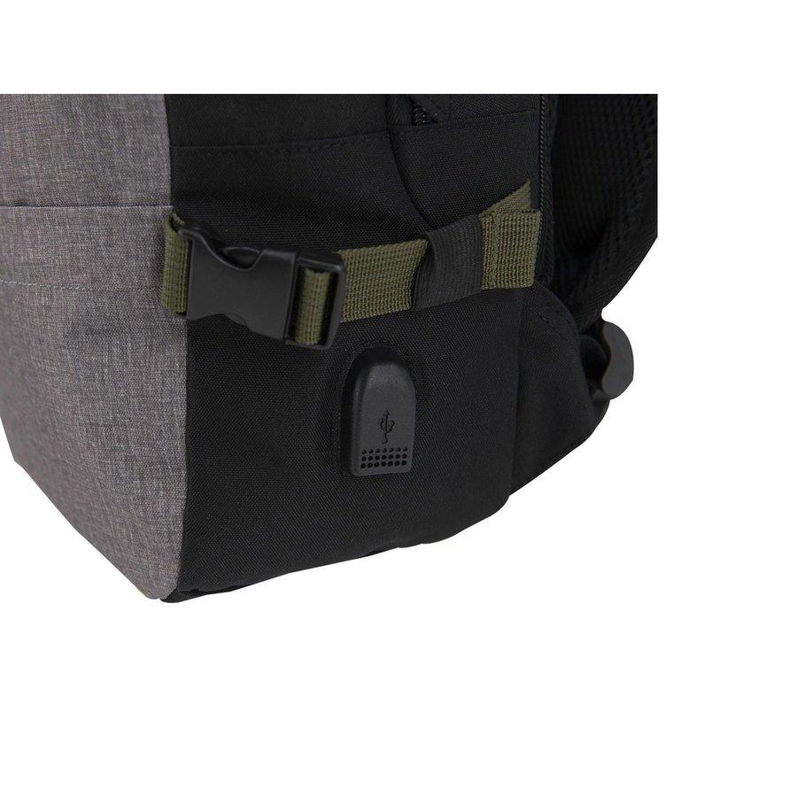 Rugzak met USB-poort, Mobility, grijs-2