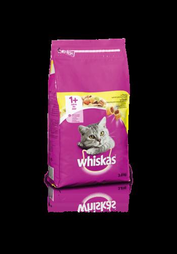 Whiskas kattenbrokjes met kip +1j  3.8kg -