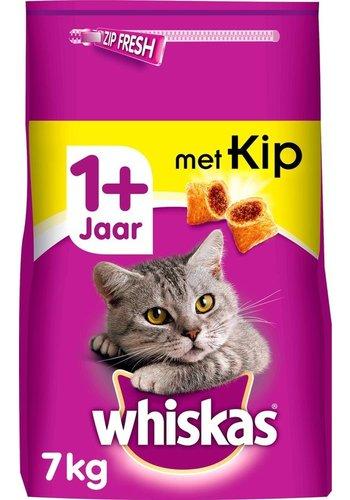 Whiskas kattenbrokjes met kip +1j  7kg