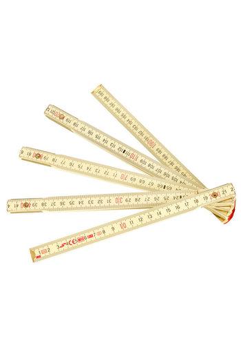 Conmetall Vouwmeter 2m hout